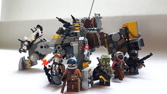 Scab Pirates (BadHandle) Tags: lego cyberpunk mech military apoc raider