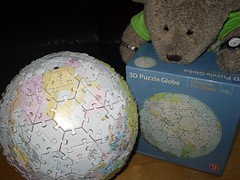 Where's England? (pefkosmad) Tags: jigsaw puzzle leisure hobby pastime complete tedricstudmuffin teddy bear ted cute stuffed toy plush soft fluffy