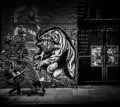 Demons (TS446Photo) Tags: nikon street art london zeiss black white mono scary monster demon horror halloween lpunsafe