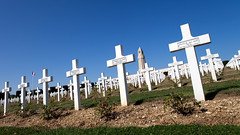 Graveyard at Ossuary of Douaumont, Verdun (Mikey Down Under) Tags: verdun town france ossuary french battle war 1 i wwi ww1 graves graveyard memorial soldiers white crosses rows thousands names world francais mortpourlafrance 1916 cemetary pride douaumont ossuaire dedouaumont