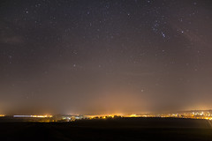 Light pollution. (maximalzdnb) Tags: sky night nightscape stars starry astrophotography milkyway light pollution city