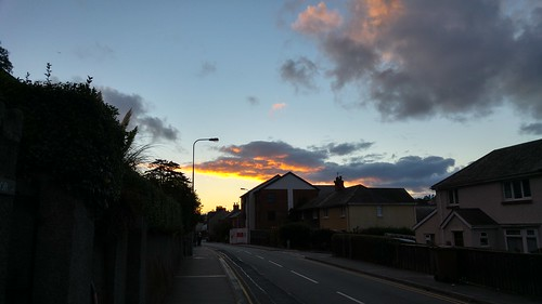 Sunset on Bangor High Street