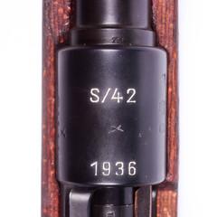 Mauser 98K Crest (TheOtherKav) Tags: 1936 8 98k d800 german germany gun k98 mauser oldsteel rifle s42 wwii classic firearm firearms guns nikon old