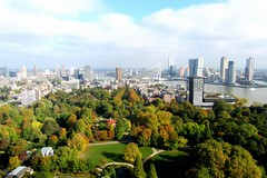 Rotterdam (Luc Herman) Tags: rotterdam park euromast city netherlands urban sky buildings colours autumn fall citypark