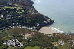 St Agnes Trevaunance Cove aerial image - Wheal Kitty in the foreground (John D F) Tags: stagnes trevaunancecove stagnesheritagecoast bay cove coast aerial aerialphotography aerialimage aerialphotograph aerialimagesuk aerialview whealkitty