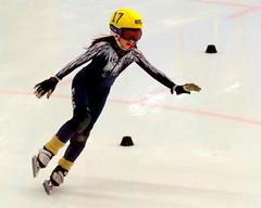 Falcon in flight (diffuse) Tags: twelve skating speedskating pg skates blades