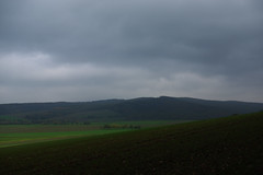 Misty (rabbit_photo) Tags: innerstebergland cloudy sky hills field