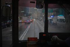 """dark days"" (hugo poon - one day in my life) Tags: xt2 23mmf2 hongkong wanchai johnstonroad tram rainy dark driver"