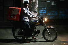 One of Foodpanda's finest (N A Y E E M) Tags: ateeq youngman deliveryboy motorbike foodpanda takeaway lastnight street rabiarahmanlane chittagong bangladesh availablelight