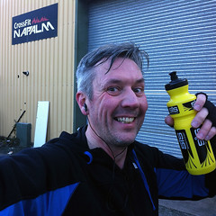 November 26th 2016 - Project 366 (Richard Amor Allan) Tags: run runner athlete smile tired waterbottle 10k charity movember project366