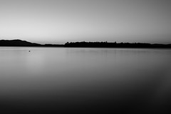 Silence (s.W.s.) Tags: lacbrome quebec canada longexposure lake water blackandwhite bw ndfilter neutraldensity bulbmode sunset bluehour gloaming nikon lightroom d3300 sky outdoor nature