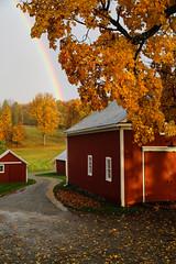 Somewhere (TW Collins) Tags: barns fallfoliage autumnleaves rainbow newengland autumn fall