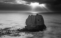 Eagle Rock (russellstreet) Tags: eaglerocklookout victoria beach eaglerock greatoceanroad water bw australia cloud blackandwhite
