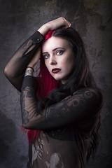 Morgan (Lee Galashan) Tags: canon 2470l mk2 studio model female halloween lastolite urban beauty gothic 7dmk2