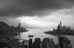 """when days look gray and overcast ..."" (hugo poon - one day in my life) Tags: xt2 23mmf2 hongkong causewaybay causewaybaytyphoonshelter central tsimshatsui victoriaharbour ifc icc skyline skyscrapers gray dark cloud architecture city sky"