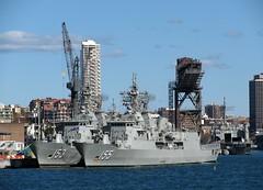 Naval Ships, Garden Island, Sydney, NSW. (dunedoo) Tags: ran gardenisland sydney nsw newsouthwales australia