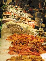 Shellfish Boqueria Barcelona.jpg (rkimk54) Tags: barcelona boqueria seafood food market seafoodmarket spain places