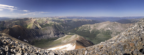 View West from Gray's Peak 1 - panor