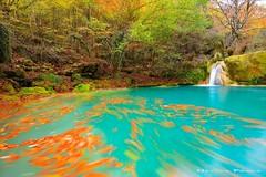 Autumn in motion (Hector Prada) Tags: otoño rio hojas movimiento sedas autumn river water motion naturaleza paisaje nature landscape