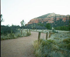 Red Rock (caseyharrison) Tags: plaubel makina 670 nikkor fuji mediumformat rangefinder 6x7 sedona red rock 120 film landscape path road trail