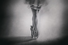 Graceful (Kieron Adams) Tags: ballet dance mono balletshoes