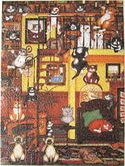 Quiet Please (Linda Jane Smith) (Leonisha) Tags: puzzle jigsawpuzzle cat chat katze cats crazycats library bibliothek