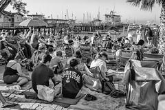 Catalina 2016-5 (rmc sutton) Tags: bingo beachbingo catalina beach vacation getaway blackandwhite bw monochrome day crowd pier activity