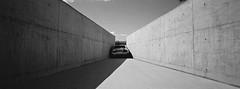 Engpass (@fotodudenz) Tags: hasselblad xpan film rangefinder super ultra wide angle 2016 hobart tasmania mona museum old new art engpass roman signer kodak bw400cn 30mm car crash