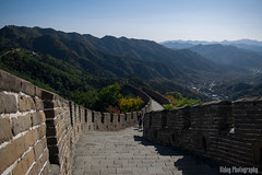 The Great Wall of China - The Pathway (Oidoy Photography) Tags: mountains asia asian hill outdoor history chinese architecture atumn sky blue sunny hills mountain travel beijing china great wall hauirou mutianyu nature landscape breathless mountainside vibrant color colours october travelphotography rampart road path pathway walking tourist tourists trail
