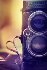(donna leitch) Tags: camera film rolleiflex stilllife tabletop heart donnaleitch vintage