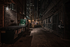 Chicago after dark (urbanexpl0rer) Tags: chicago illinois alley nightshot night abandoned streetshot streetphotography