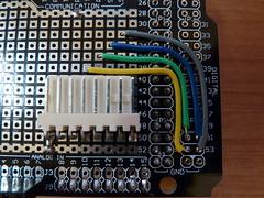 Polargraph SD prototype (Euphy) Tags: art robot drawing machine stack sd hack mega rj45 arduino adafruit protoshield motorshield polargraph