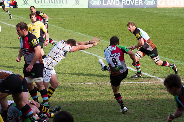 Danny Care Clears the Scrum