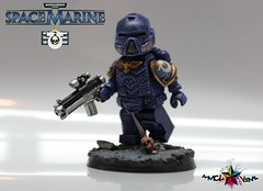 Tactical Space Marine of the Ultramarines (.mclovin.) Tags: army marine lego space 40k warhammer 40 breakthrough 000 tlg brickarms