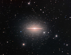 The Sombrero Galaxy and a Swarm of Globular Clusters (Rolf Wahl Olsen) Tags: sky color star space deep astro observatory telescope astrophotography planet astronomy universe cosmos deepspace astrometrydotnet:status=solved astro:subject=m104 astrometrydotnet:version=14400 competition:astrophoto=2012 astro:gmt=20120419 astro:subject=ngc4594 astrometrydotnet:id=alpha20120772951151
