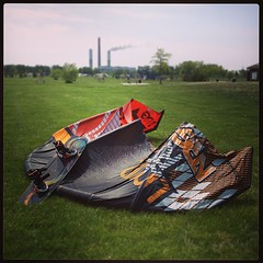 Spring Michigan kiteboarding #kiteboarding #michigan #smog #powerplant (bryan elkus) Tags: square squareformat mayfair iphoneography instagramapp uploaded:by=instagram