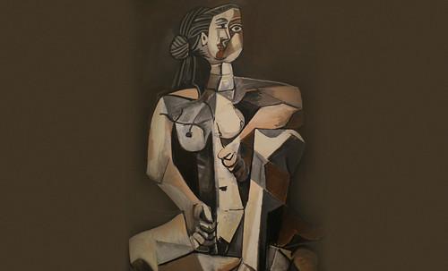 "Mujer Sentada, geometrización de Pablo Picasso (1953), abstracción de Roberto Real de León (2013). • <a style=""font-size:0.8em;"" href=""http://www.flickr.com/photos/30735181@N00/8805309065/"" target=""_blank"">View on Flickr</a>"
