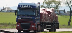 McCallum Haulage Muir Of Ord DAF XF SV08 FPG (Kilmachalmag) Tags: rope sheet trucks load flatbed a9 lorries tomich sheeted