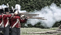 With The Enemy In Sight (R.Courson) Tags: nikon war battle soldiers british warof1812 1812 gunfire flintlock rcourson ryancourson ryancoursonphotography