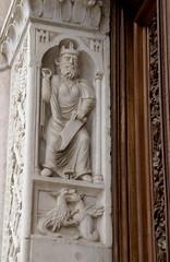 Foligno, Duomo San Feliciano, Barbarossa (Cathedral of St. Felician, Emperor Barbarossa) (HEN-Magonza) Tags: italien italy italia umbria umbrien foligno kaiserbarbarossa duomosanfeliciano cathedralofstfelician domdeshlfelicianus emperorbarbarossa