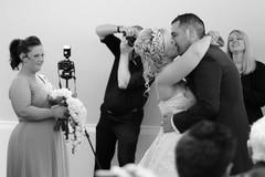 The Williams' Wedding (stu dag) Tags: wedding blackandwhite firstkiss
