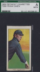 Error Card - T206 Frank Owen - Chicago (American) 1909-1911 - Piedmont 150 Back - Tobacco / Cigarette Baseball Card (WhiteRockPier) Tags: vintage cigarette tobacco whiteborder baseballcard t206