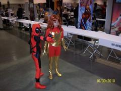 Deadpool & Dark Phoenix Cosplay (Trinity All-Stars) Tags: beach phoenix dark costume long comic cosplay xmen trinity con allstars 2010 lbcc deadpool kidpool lbcc2010