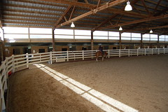 "A View of the Indoor Arena with Stalls in the Back • <a style=""font-size:0.8em;"" href=""https://www.flickr.com/photos/92793179@N08/9304760564/"" target=""_blank"">View on Flickr</a>"