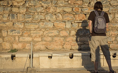 Roman Toilets (Peake Photography) Tags: man turkey greek temple alone roman toilet baths peeing urinating ephesus
