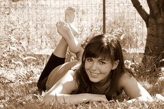 Youth (PaquiPhotography) Tags: portrait people woman white flower colour tree nature face make up sepia lady female cat fun person book eyes dress young makeup mini skirt retratos human hai ritratto gird blacl