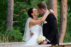 Just happy (Dmitry Kaminsky) Tags: flowers wedding love happy bride kiss touch joy young marriage husband latvia together wife justmarried riga fiance fiancee bunchofflowers saulkrasti bridecouple baltakapa