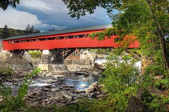 Taftsville Covered Bridge, Vermont (sminky_pinky100 (In and Out)) Tags: red usa water river landscape waterfall vermont scenic newengland colourful woodstock powerstation hdr rebuilt omot taftsvillecoveredbridge masterclasselite thenewmasterclass masterclassexhibtion