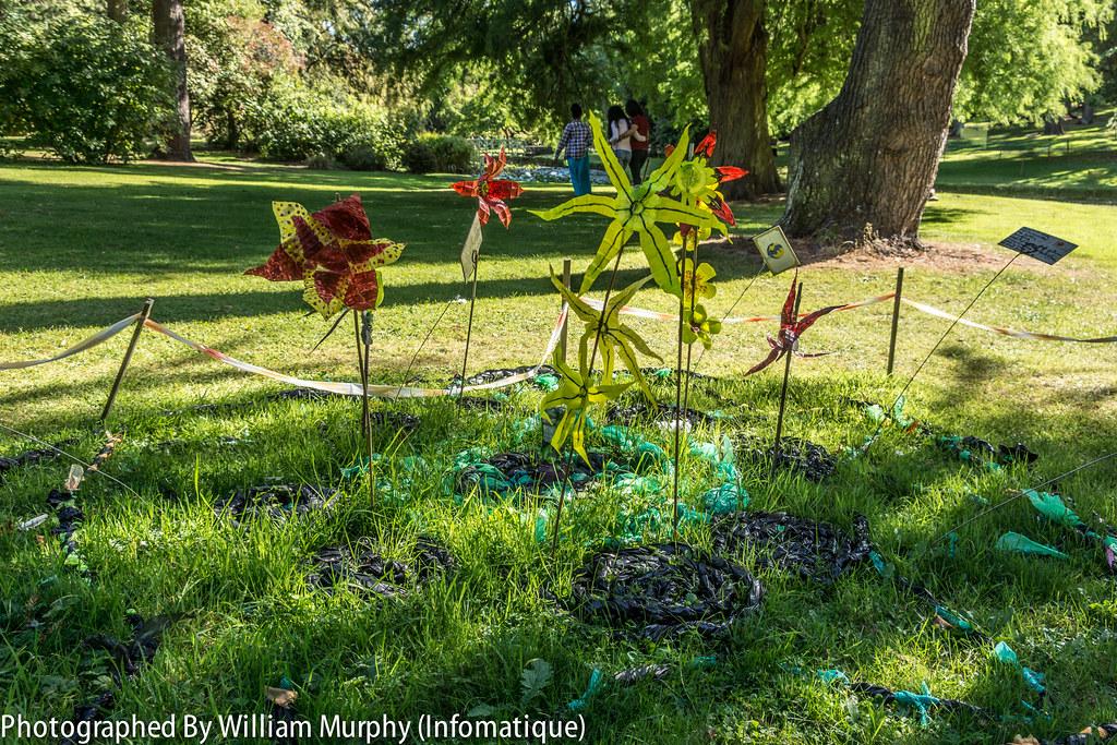 Sculpture In Context 2013 In The Botanic Gardens - Les Iles De Plastique By Mairdhia Ni Mhurchu