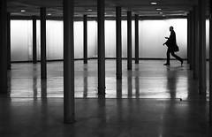L'élégance (Bernard Chevalier) Tags: street ombre passage rue souterrain homme mouvement colonnes élégance piéton